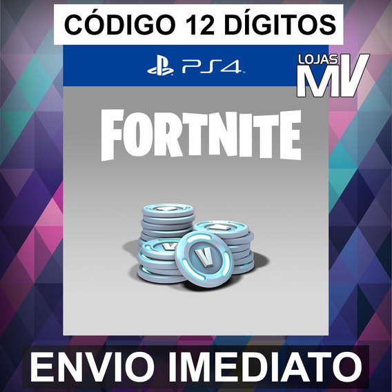 Fortnite 5600 V-bucks Código De 12 Digitos Ps4