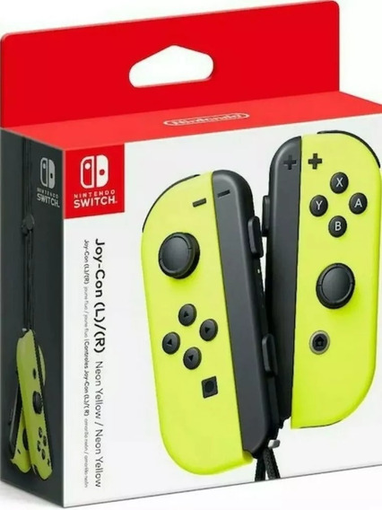 Joy Con L/r Nintendo Switch Neon Yellow (amarelo) Lacrado