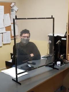 Protector Sanitario P/escritorios/supermercado/ Oficina 70cm