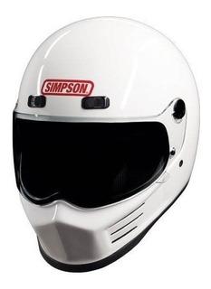 Casco De Moto Simpson Msb15xl1 Street Bandit (mxlarge White)