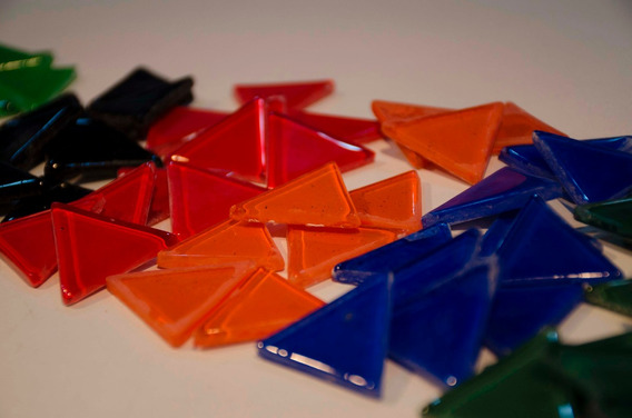 Triangulos Colores Vitrofusión - Mosaiquismo - X 30 U