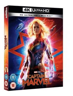 Captain Marvel Blu-ray 4k Ultra Hd + Blu-ray Import En Stock