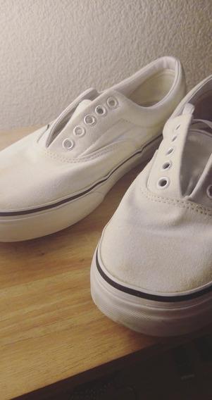 Vans Era Blancas Como Nuevas Talle 7us 39arg