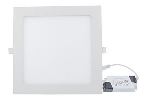 Kit 4 Plafon Embutir Quadrado Led 18w Painel Bivolt 22x22