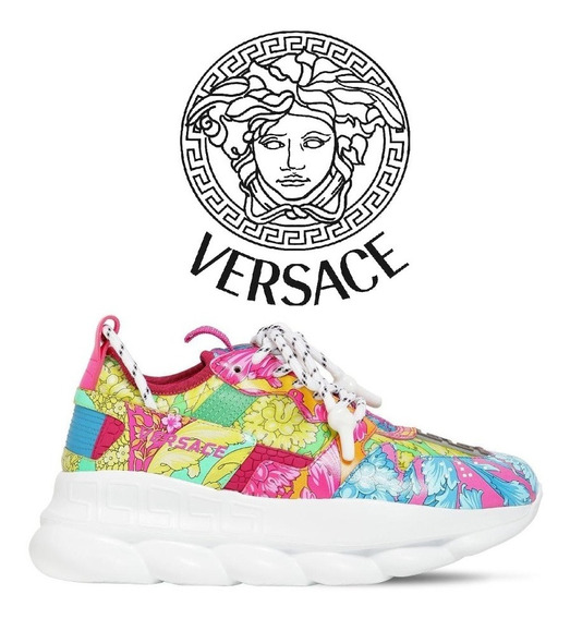 Versace Tênis Chain Reaction Pink