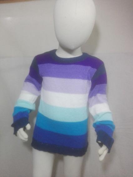 Sweater Niño Niña Cuello Redondo Rayado