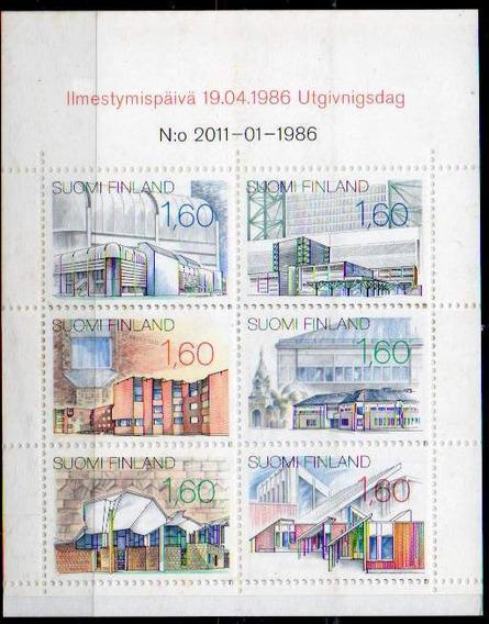 Finlandia 1986. Carnet Con 6 Sellos De Arquitectura