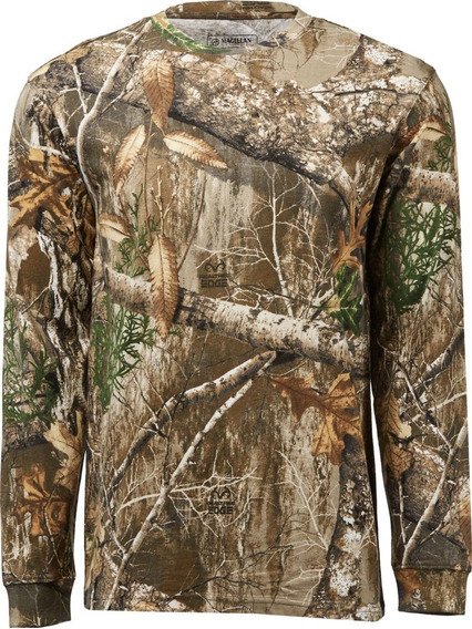 Playera Edge Manga Larga Hombre Caceria Camo Realtree Edge