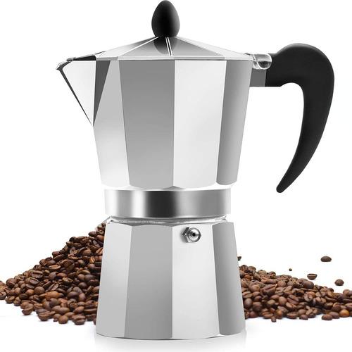 Cafetera Italiana Para 6 Tazas En Aluminio En Caja Moderna