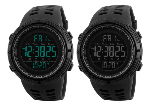 Imagen 1 de 5 de Reloj Deportivo Skmei 1251 Negro 2 Piezas