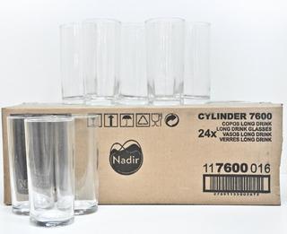 Set Juego 24 Vasos Cylinder Trago Largo 350ml Nadir - 7600/1