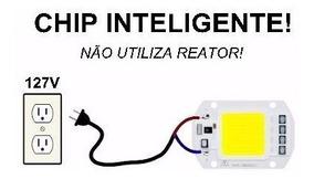 10 Chip Led 50w Superled Inteligente Funciona S/ Reator 127v