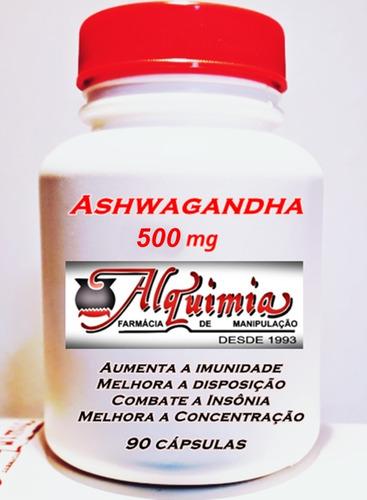 Ashwagandha - 500 Mg 90 Cápsulas - O Super Tônico Em Cápsula