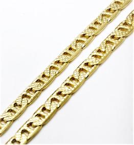 Corrente Masculina Piastrine Textura 70cm Banho Ouro 3095