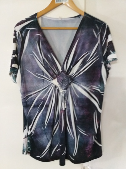 Blusa Folk Mujer Colorida Lage Impecable