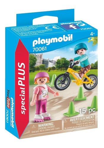 Playmobil 70061 Special Plus Nenes Con Bicicleta Y Patines