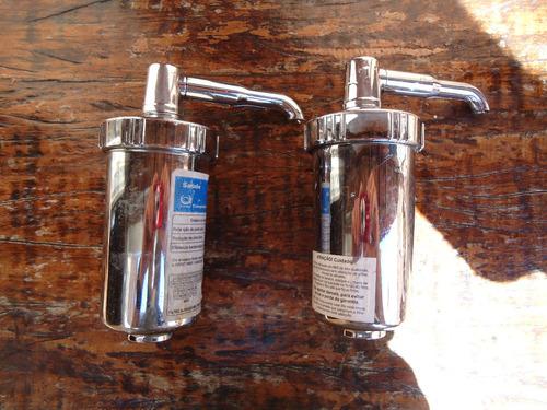 2 Copo Para Filtro Universal  Abs Cr. Com Elemento Filtrante