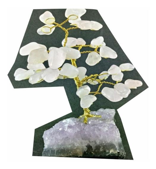 Árvore Pedra Natural Cristal Na Base Drusa Ametista