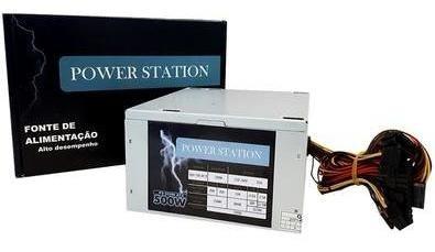 Imagem 1 de 1 de Fonte Atx 500 Watts Power Station Ft500wps