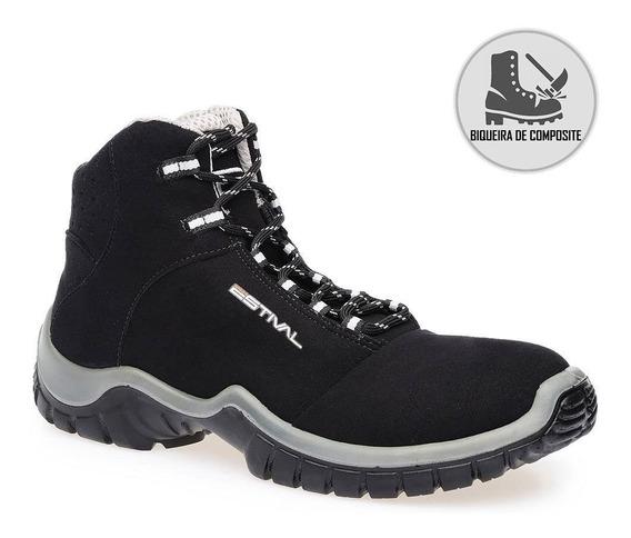Bota Segurança Preto/cinza Bico Composite Estival Ca 42555