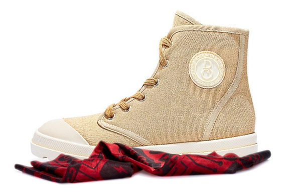 Tênis Lona Rock With You Bebecê Feminino Cano Alto Tratorado