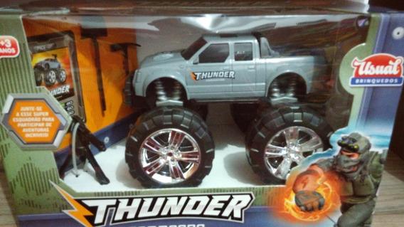 Pick-up Thunder Commando Cinza - Usual Brinquedos