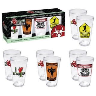 Aquarius Zombie 4 Piezas Pint Glass Set
