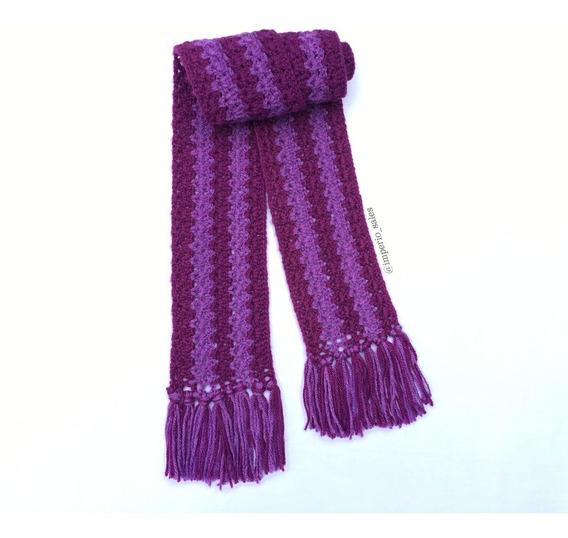 Cachecol Feminino Lã Crochê Tendência 2020