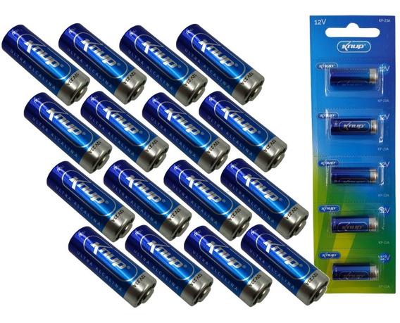 Kit Com 20 Unidades Bateria Alcalina 12v 23a Knup - Portao