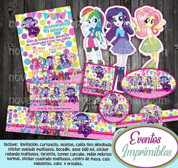 Invitaciones De My Little Pony Equestria Girls Recuerdos