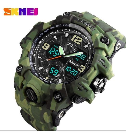 Relógio Estilo G-shock Militar Skmei 1155 Camuflado Original