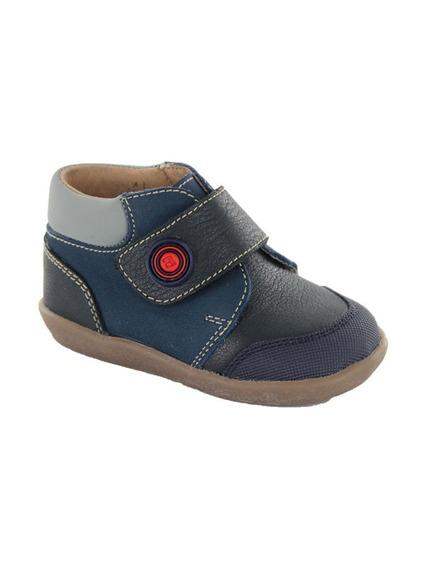 Botita Para Niño Con Velcro Audaz Panky Azul T11-14