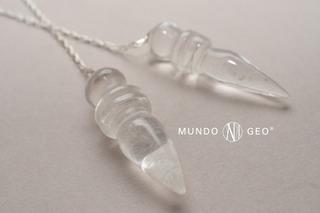 Piedra Péndulo Egipcio De Cuarzo Blanco