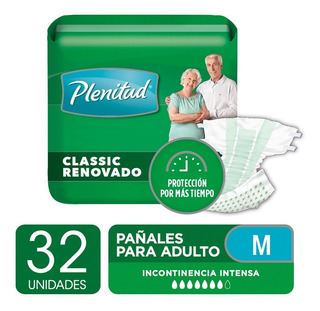 Pañal Para Adultos Plenitud Classic M Y G X 8un Pack X 4