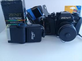 Camera Fotografica, Zenit, Analógica 122, Lente Helios 44m-5