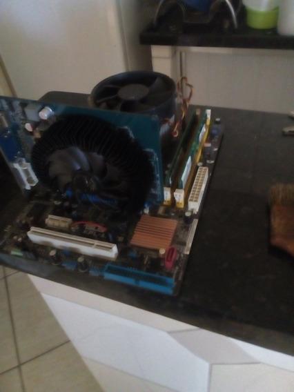 Kit Placa Mãe +memória+processador+ Placa De Vídeo