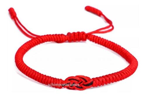 Nueva Pulsera Tibetana De La Suerte - Roja -
