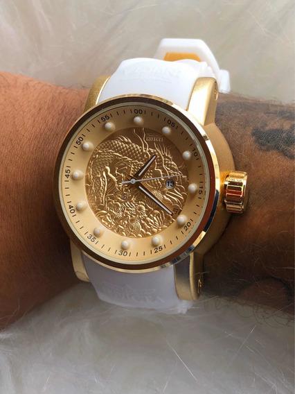 Relógio De Pulso Masculino Dragão Varias Cores