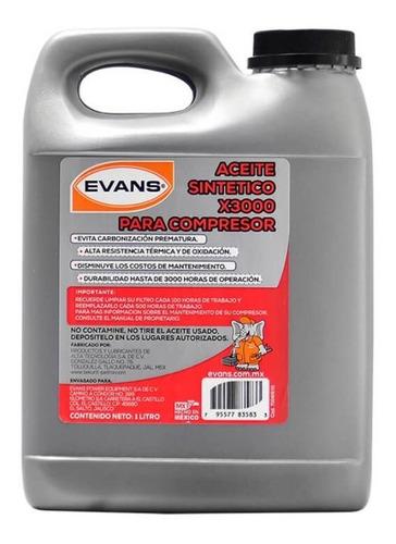 Imagen 1 de 2 de Rc-x3000 - Aceite Sintético Para Compresor Evans - 1 Litro