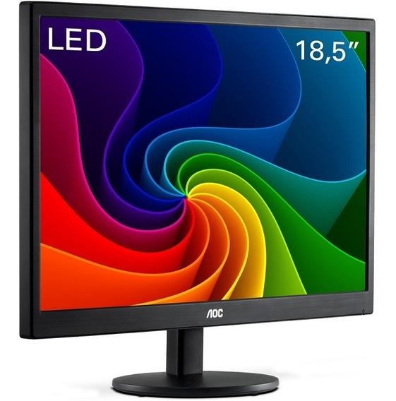 Monitor Led 18,5 Hd Widescreen Vga E970swnl Preto Aoc