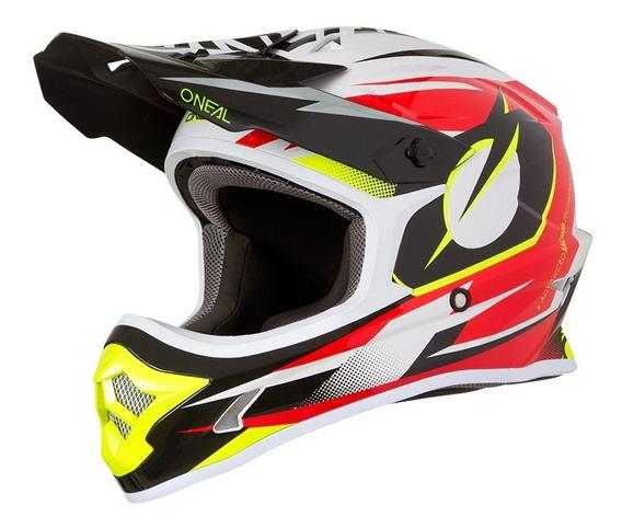 Casco Oneal 3 Series Motocross Enduro Mtb Atv Riff Rojo 2019