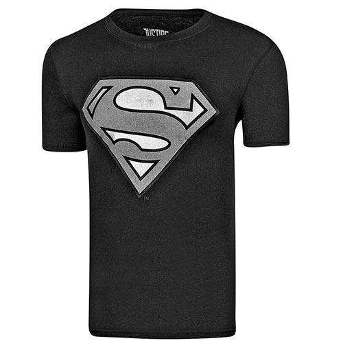 Playera Superman Caballero Ltx Rgsup011wb Negro 82028 T3