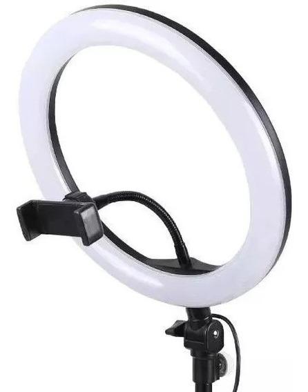 Iluminador Led Ring Light Usb 26cm Fotografia Estudio+ Tripe