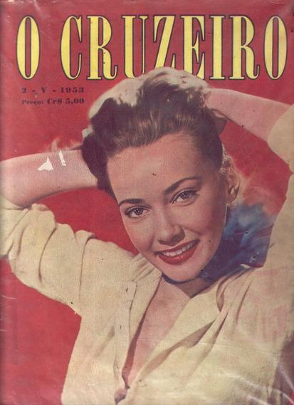 O Cruzeiro 1953.aguá No Rio Janeiro.rainha Da Inglaterra.mod