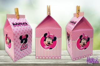 Minnie Cajita Para Golosinas - Tipo Milkbox Para Imprimir