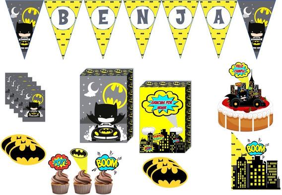 Mini Cotillon X 5 Batman Banderin Bolsitas Y Mas