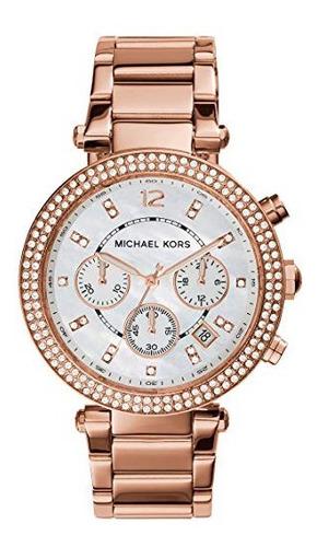 Imagen 1 de 7 de Reloj Michael Kors Mk5491 Gold Rose - 100% Original Nuevo