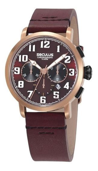 Relógio Seculus Masculino Ref: 13029gpsvrc1 Cronógrafo Rosé