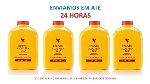 Aloe Vera Gel Puro, Aloe Vera Amarelo. Kit Com 4  Botejas