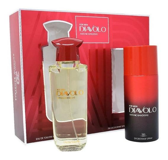 Antonio Banderas Diavolo 2pzs 100 Ml Edt Spray + Desodorante
